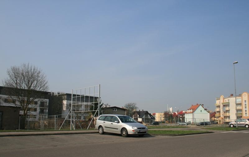 widok na działkę przy ul. Prymasa Wyszyńskiego