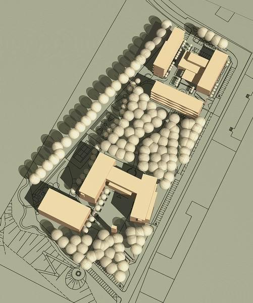 Koncepcja architektoniczna kampusu uniwersyteckiego w Pile Pracowni Architektonicznej 1997 z Poznania