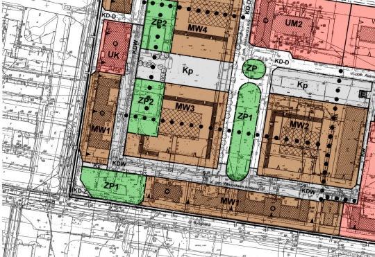 fragment miejscowego planu zagospodarowania przestrzennego w rejonie ulic: Podchorążych i Bydgoskiej