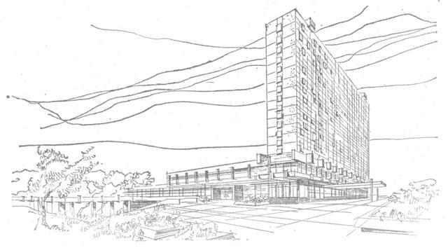 """perspektywa Hotelu wykonana przez koszaliński """"Miastoprojekt"""""""