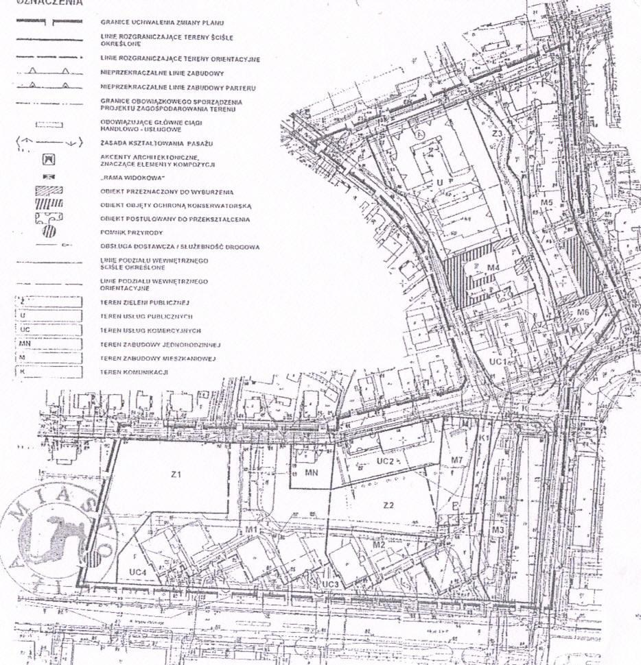 fragment planu szczegółowego zagospodarowania przestrzennego miasta Piły - Al. Wojska Polskiego i Budowlanych.
