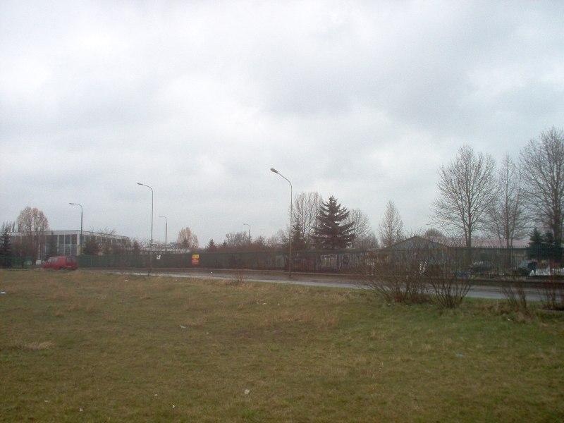 widok na tereny usługowe U6 i U7