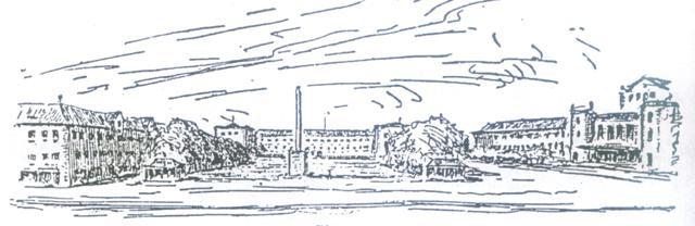 jedna z koncepcji prof. Bonatz i arch. Scholer ze Stuttgartu - widok na plac Gdański