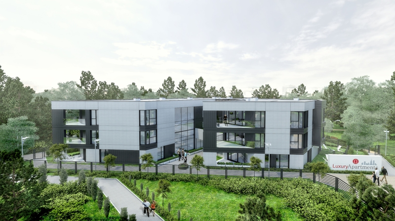wizualizacje budynku na Jadwiżynie - własność Omega Luxury Apartments