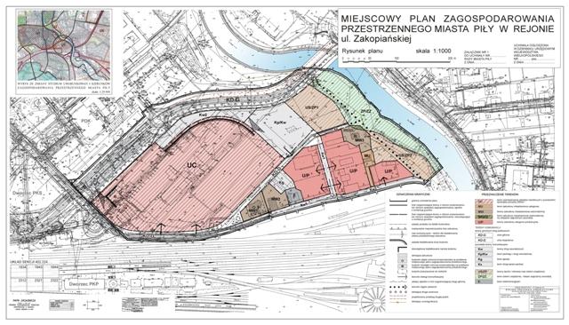 załącznik graficzny do obowiązującego miejscowego planu zagospodarowania przestrzennego w rejonie ul. Zakopiańskiej - (kliknij w obrazek)