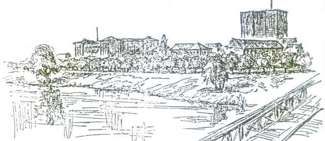 widok od strony rzeki na ratusz - prof. Bonatz i arch. Scholer ze Stuttgartu