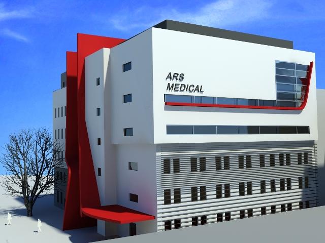 wizualizacja szpitala ARS MEDICAL - autor: Architektoniczna Pracownia Projektowa Tomasz Drożdżyński z Poznania
