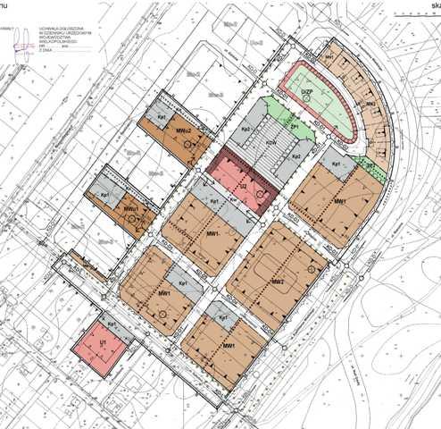 rysunek miejscowego planu zagospodarowania przestrzennego w rejonie ul. Bnińskich - kliknij w rysunek