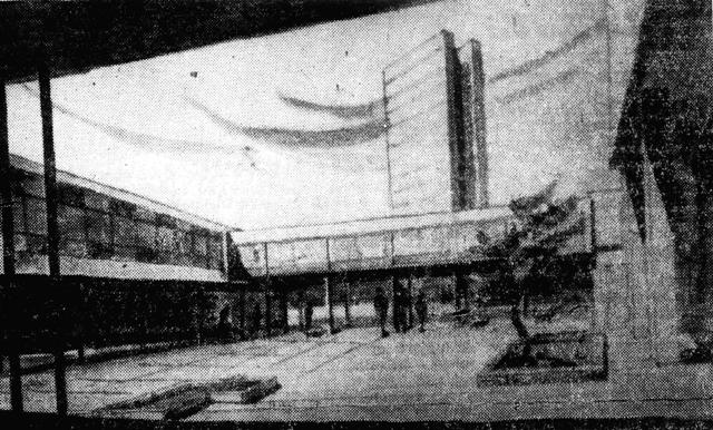 wnętrze projektowanego zespołu handlowo-usługowego na pl. Zwycięstwa (wcześniej pl. Powstańców Wlkp.) - lata 60-te