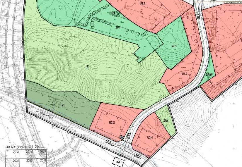 fragment miejscowego planu zagospodarowania przestrzennego miasta Piły - Bydgoskie Przedmieście - teren U1.3