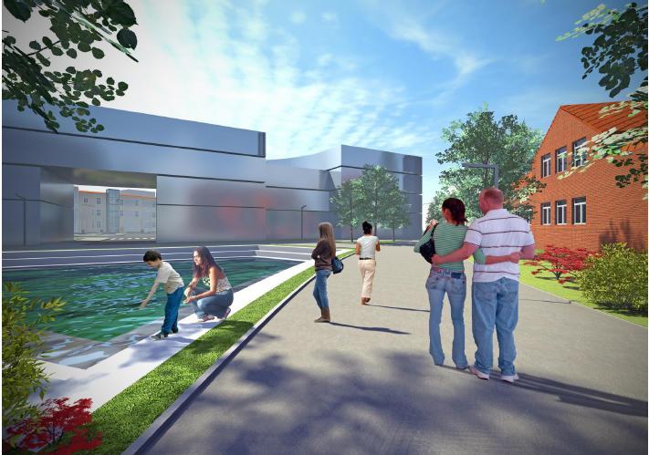 wizulizacja nowej przykładowej zabudowy przy pl. Pocztowym - wizualizacje przygotowane na zlecenie Urzędu Miejskiego