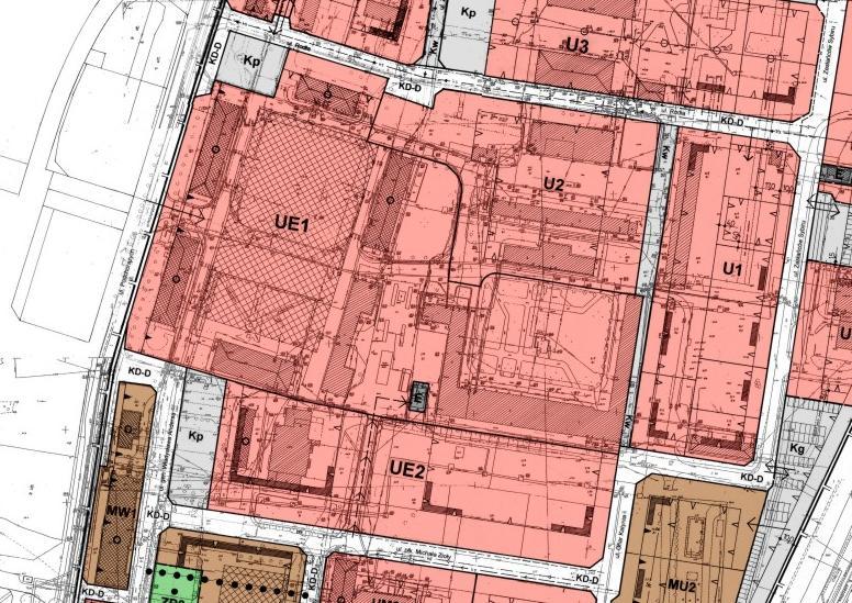 fragment planu zagospodarowania przestrzennego w rejonie ulic: Podchorążych i Bydgoskiej - tereny PWSZ