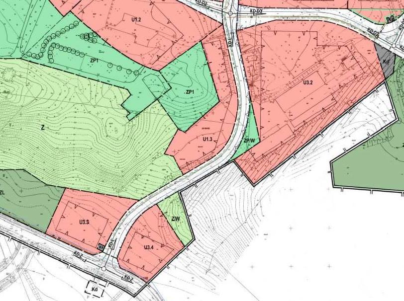 fragment miejscowego planu zagospodarowania przestrzennego miasta Piły - Bydgoskie Przedmieście - tereny U3.2, U3.3, U3.4