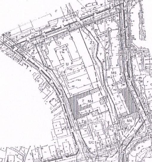 fragment planu szczegółowego zagospodarowania przestrzennego miasta Piły - rejon ul. Ogińskiego, Kolbego i Budowlanych.