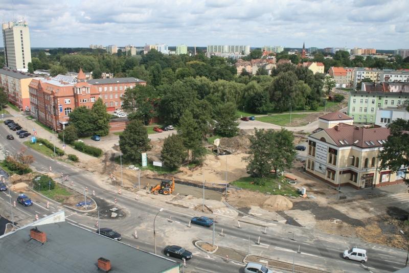 budowa ulicy Piłsudskiego - rok 2012