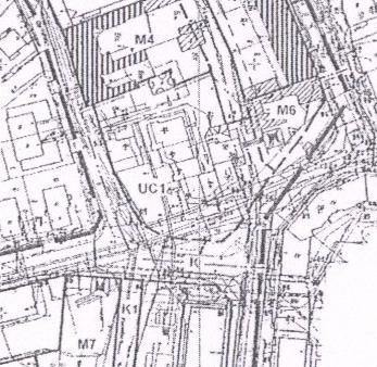 fragment planu szczegółowego zagospodarowania przestrzennego miasta Piły - rejon ul. Budowlanych, Ogińskiego, Kolbego i Kujawskiej.