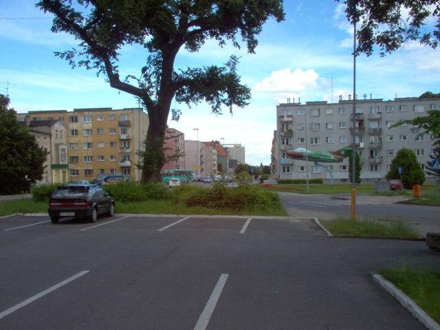 przewidziana lokalizacja nowego placu miejskiego wraz z jego obudową