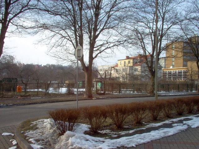 widok na ogrody działkowe przy ul. Wincentego Pola, które mogą zostać przekształcone w teren ogólnodostępny