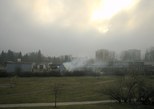rozpoczęcie prac wyburzeniowych (grudzień 2004)