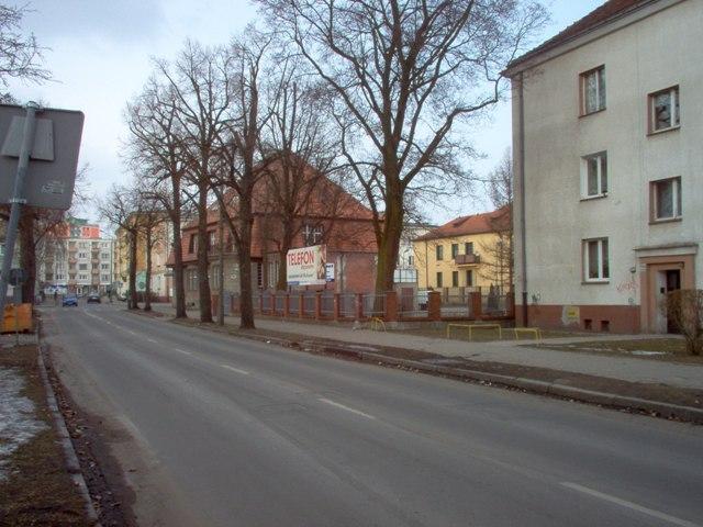 fragment ulicy Kusocińskiego - działka U1 z mozliwością zabudowy