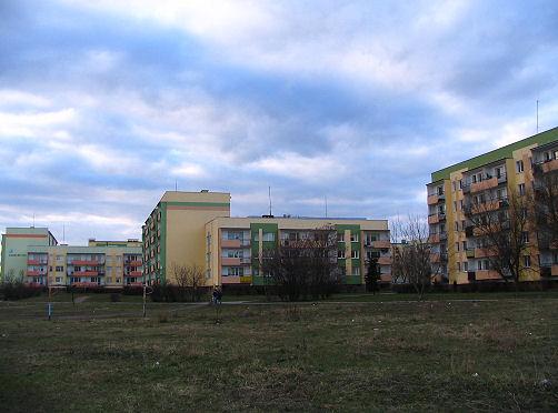 osiedle przy ul. Łącznej naprzeciwko marketu Kaufland (stan obecny)