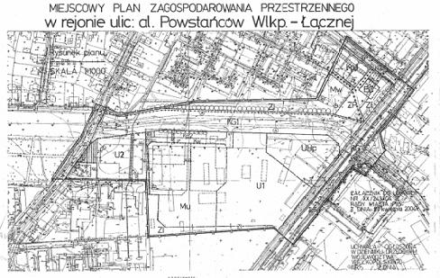 miejscowy plan zagospodarowania przestrzennego w rejonie ulic: al. Powstańców Wlkp. - ul. Łącznej z dnia 27.04.2004 r.