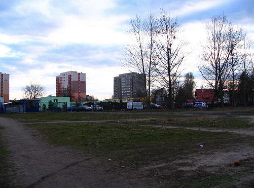 widok na teren U2 (stan obecny, parking strzeżony)