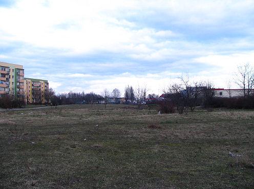teren przez który ma przebiegać fragment obwodnicy śródmiejskiej (stan obecny)