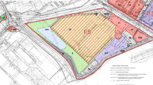 fragment planu zagospodarowania przestrzennego obszaru śródmiejskiego - jednostka F5